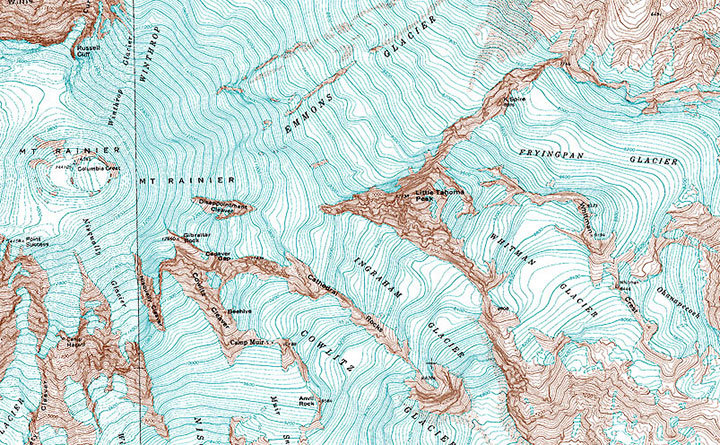 Mt Rainier Topographic Map.Road Trip Solo Chandler O Leary